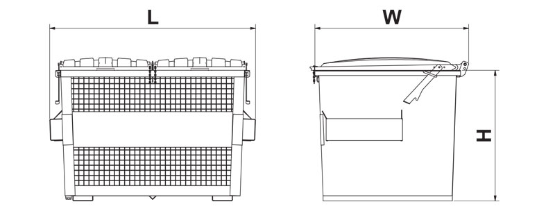 frontlift-recycling-cage-sizes